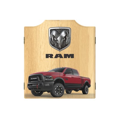Dart Board Cabinet Set- RAM Red Dartboard Game