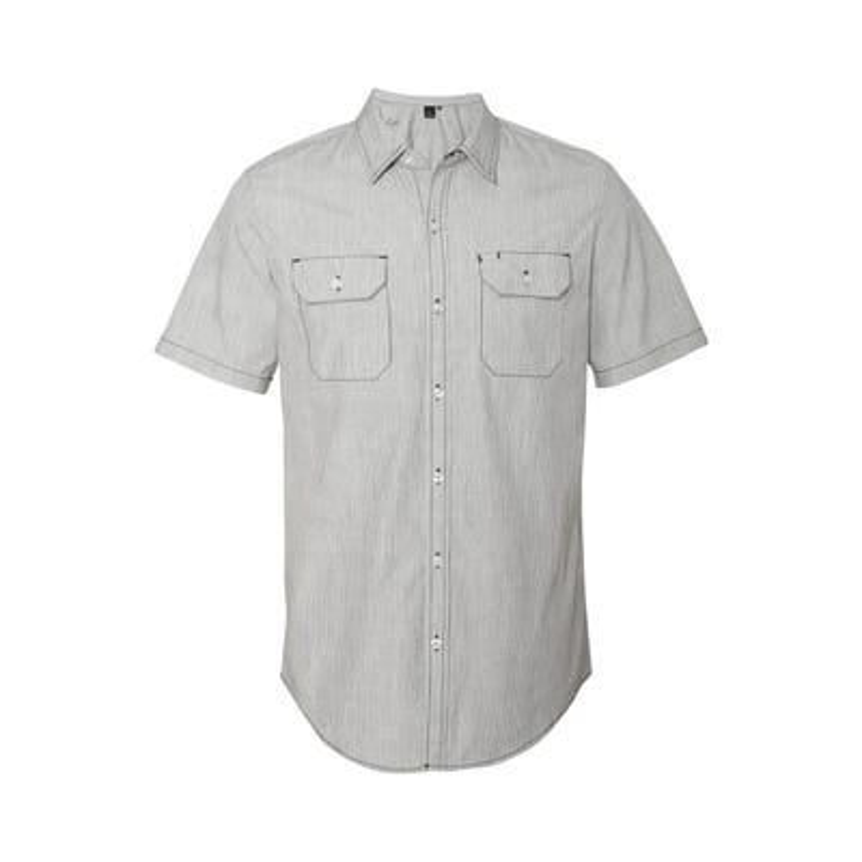 Men's Dobby Stripe Short Sleeve Shirt