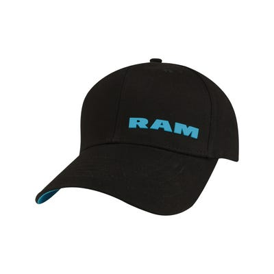 Women's Black and Teal Cap