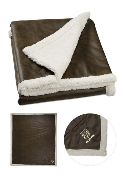 Sherpa Lined Rustic Throw